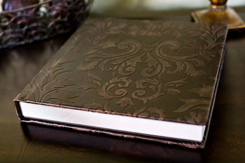 Awesome leather album cover for the Premier One Wedding Album at Caffreys Photography.